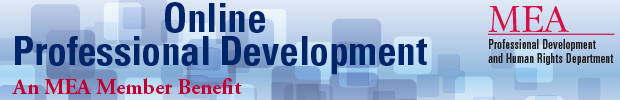 MEA Professional Development Portal